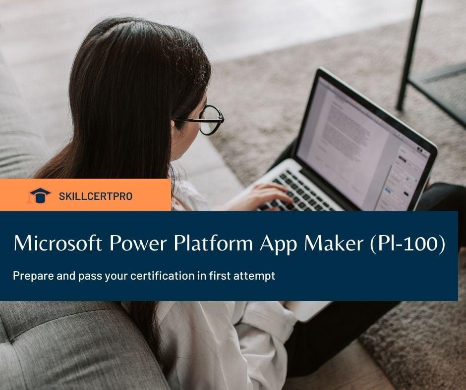 Microsoft Power Platform Pl-100 exam questions